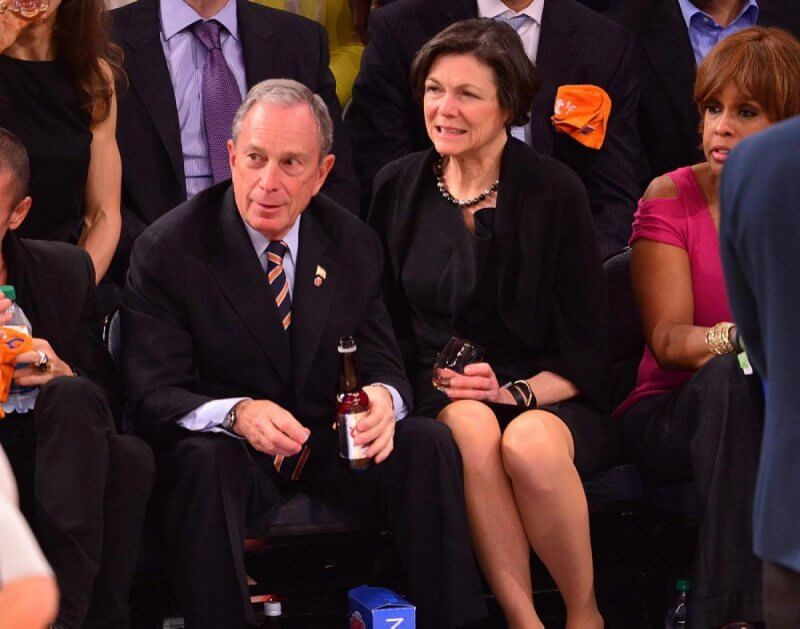 mayor-michael-bloomberg-diana-taylor-knicks-game-1