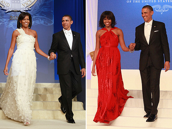 WASHINGTON, DC - JANUARY 21: First Lady Michelle Obama and President Barack Obama attend the Inaugural Ball on January 21, 2013 in Washington, United States. (Photo by Taylor Hill/WireImage)